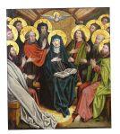 Maria und die Apostel versammeln sich und der Heilige Geist erfüllt sie