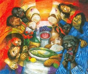 Gott-Sohn im Brot und Wein und ein Menschen-Tempel