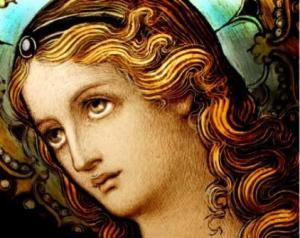 Als sie starb nahm sie Christus zärtlich in den Himmel auf.