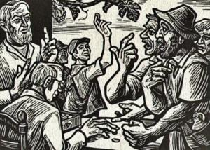 Die Weinbergarbeiter bekommen ihren Lohn