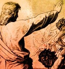 Jesus vertreibt die Angst