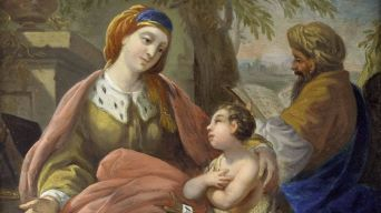 Elisabet und Zacharias mit ihrem Sohn Johannes, gemalt von Louis Jean Francois