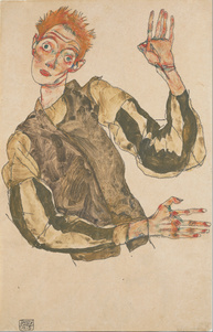 Egon_Schiele_-_Self-Portrait_with_Striped_Armlets